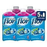 Flor - Azul - Suavizante Concentrado - 1035 ml - [Pack de 5]