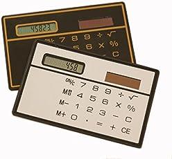 AST Works Nice Solar Power Portable Mini Handheld Ultra-Thin Card Small Pocket Calculator