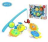Bad Angeln spielzeug,BBLIKE 4 schwimmende Fische Badespaß Spielzeug Baby Großes Geschenk für vorschulische Bildung