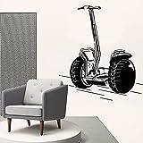 Modeganqingg Exquisite Fahrrad Vinyl Tapetenrolle Möbel Dekoration Kinderzimmer Wanddekoration schwarz L 43 cm X 42 cm