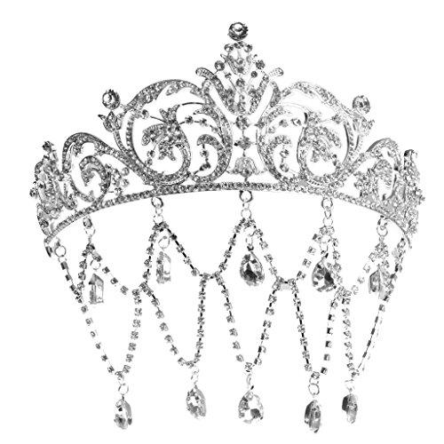 Sparking Mini Tiara Kristall Krone Haarnadeln Haarschmuck Kristall Straß Nadel ()