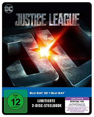 Justice League als Steelbook (Limited Edition exklusiv bei Amazon.de) [3D Blu-ray] 3d-matrix