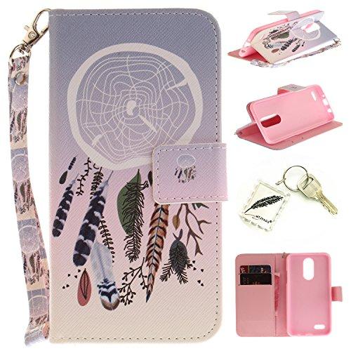 Preisvergleich Produktbild Silikonsoftshell PU Hülle für LG K4 (2017) (4,5 Zoll) Tasche Schutz Hülle Case Cover Etui Strass Schutz schutzhülle Bumper Schale Silicone case+Exquisite key chain X1#KE (2)