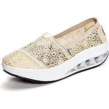 Gracosy Plataforma Zapatos Mujer Zapatillas Sneaker Cuña Summer Mesh Plataforma Sandalias Zapatos para Caminar para Mujeres