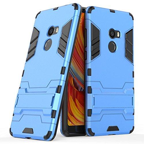 Hülle für Xiaomi Mi Mix 2 (5,99 Zoll) 2 in 1 Hybrid Dual Layer Shell Armor Schutzhülle mit Standfunktion Case (Blau)