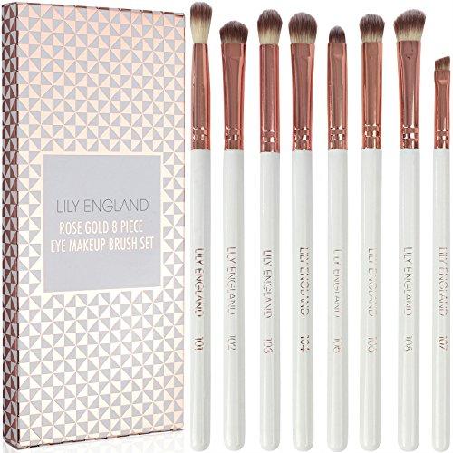 Lily England Set Make-up Occhi - 8 pennelli fondamentali per il trucco