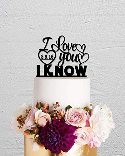 Tortenaufsatz für Hochzeitstorte I Love You I Know Star War Cake Topper Custom Cake Topper mit DatePersonalized Cake Topper