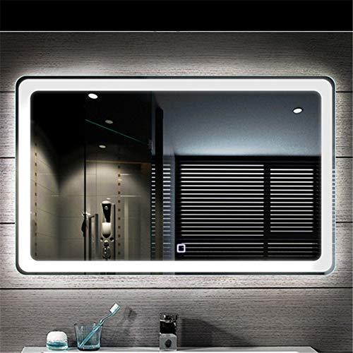 Beleuchteter Badezimmer-Spiegel-intelligenter Doppeltasten-Berührungsschalter-LED Anti-Fog, für Familien-Badezimmer-Hotels (90 * 60CM) -