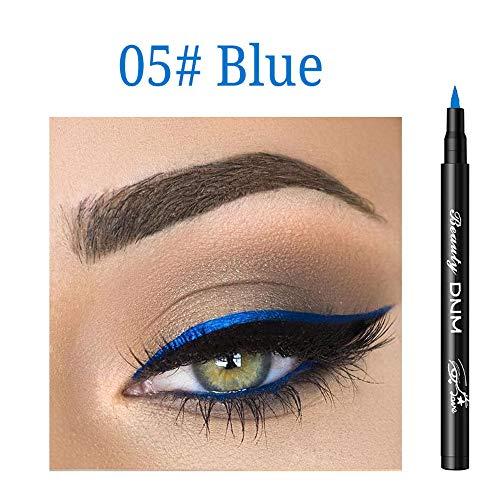 Cooljun Eyeliner liquid paillette Waterproof Maquillage 12 Couleur,Brillant à paupières Smoky Eyeliner Liquide à Paillette Crayon Stylo Fard à Paupières (E)