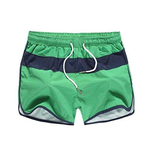 2 Pack Hommes Séchage Rapide D'été Taille Plus Plage élastique à La Taille La Couleur A Frappé Swim Trunk Option Multi-couleurs B