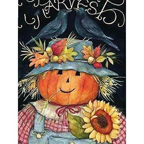 (HDWALLART DIY Diamant Malerei Halloween Cartoon Mosaik Diamant Stickerei Kürbis Full Square Bild von Strass Handmade Geschenk, 30x40cm)