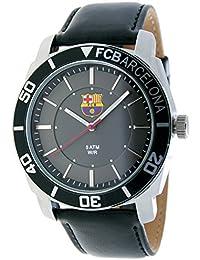 5d81438ba4d88 RADIANT Reloj analógico de caballero F.C.BARCELONA - Correa de piel - Negro  - BA-