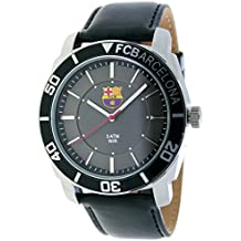 9e1260d43928 RADIANT Reloj analógico de caballero F.C.BARCELONA - Correa de piel - Negro  - BA-