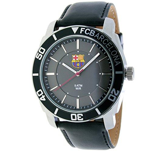 RADIANT Reloj analógico de caballero F.C.BARCELONA – Correa de piel – Negro – BA-11601 Journey
