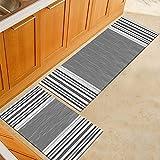 Morbuy Tapis de Cuisine Interieur Lavable Anti Slip Chambre à Coucher Salon Tapis d'Entrée Absorbant Antidérapant (40 * 120CM, E)