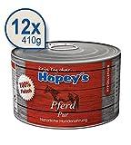Hopey's hypoallergenes Hundefutter: Pferdefleisch als einzige Proteinquelle, 100% Pferdefleisch für Hunde, 12x 410g Dosen