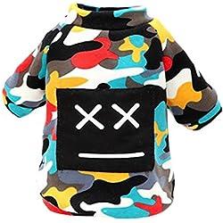 La Vogue Ropa para Perros Perritos Chaqueta para Mascotas Costumes Camuflaje Multicolor X-large