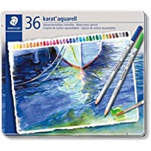 KARAT® AQUARELL 125 - Caja metálica con 36  lápices acuarelables