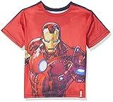 Marvel Avengers Reversible, Camiseta Nios, Rojo (Red 19-1763 TC), 6 Años