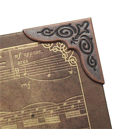 Xelparucoutdoor - Protectores de esquina de libros de metal para álbumes de recortes (30 x 30 mm)