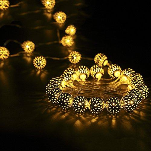 Globe Lichterkette 30 Leds S&G Batterienbetrieben LED Globe String Licht Sternenlicht Deko Glühbirne für Valentinstag Party Weihnachtsbeleuchtung Hochzeit