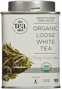 The TeaSpot Monkey-Picked White, Loose Leaf White Tea, 1.2 Ounce Tin