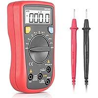 Multímetro Portátil digital, Synerky DM136B 4000 Counts Rango automático Amperímetro Voltímetro de mano CC/CA Voltaje Resistencia actual Frecuencia