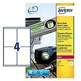 Avery Strapazierfähige Etiketten für Laserdrucker
