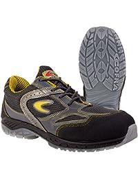 """Cofra 30150–000.w47Talla 47S1P SRC–Zapatos de Seguridad de""""Grand Slam, Color Negro y Amarillo"""