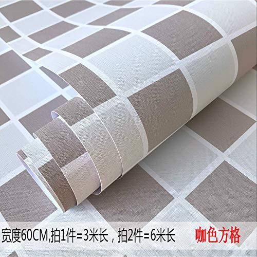 lsaiyy Tapete Selbstklebende Schlafzimmer warme tapete wasserdicht PVC Reine pigmentfarbe schlafsaal Schlafzimmer wandaufkleber möbel renovierung Aufkleber tapete-60 cm X 3 M -