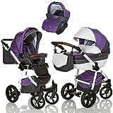 LCP Kids Poussette combinee 3en1 LUCATO eco cuir pour bebe et enfant 0-36 moins...