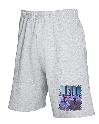 Cotton Island - Pantalone Tuta Corto TDA0006 degas136 lezione di danza Grigio
