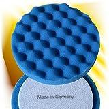 Haitecs PremiumPolish Hochglanz Polierschwamm für Politur 150 mm weich soft blau Waffel