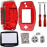 Timorn Ersatz Gehäuse Shell Pack mit Schraubenzieher für Gameboy Advance GBA Controller (Rot) -