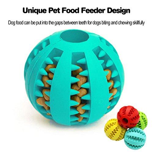 Idepet Hund Spielzeug Ball, ungiftig Bite resistent Spielzeug Ball für Hunde Welpen, Hundefutter Treat Feeder Zahn Reinigung Ball, Hunde Übung Spiel Ball IQ Training Ball - 6
