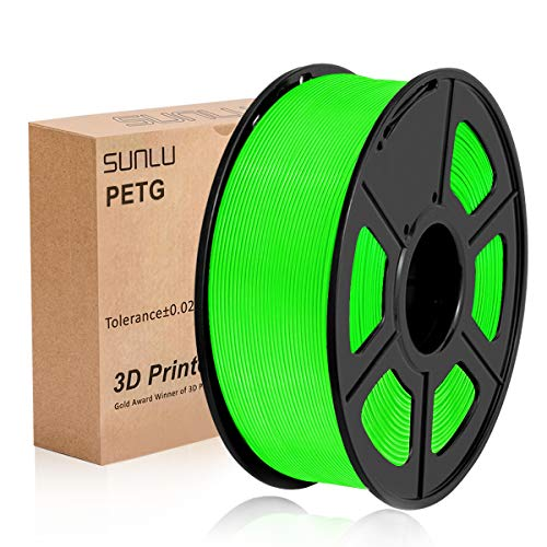 SUNLU 3D Printer Filament PETG, 1.75mm PETG 3D Printer Filament, 3D Printing Filament PETG for 3D Printer, 1kg, Green