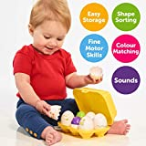 TOMY Toomies Hide and Squeak Eggs, Educational Shape Sorter Baby, Toddler & Kids Toy, Christmas Gifts For 6 Months & 1, 2 & 3 Year Old Boys & Girls