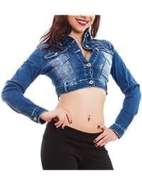 Toocool - Giacca jeans donna denim giubbino corto giubbotto aderente slim  fit nuovo H510 63678f0ecf48