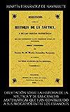 Disertación sobre la historia de la naútica y de las ciencias matemáticas que han contribuido a sus progresos entre los españoles