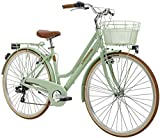 28 Zoll Damen City Fahrrad 6 Gang Adriatica Retro, Farbe:grün