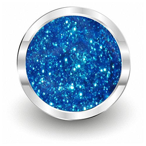 NAILFUN PRIME Farbgel 076 Glitter Diamonds Blue - UV- und LED-Gel - 1x 5ml - Blue Glimmer Glitter
