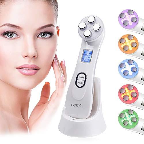 Ultrasuoni Viso Antirughe, Ultrasuoni Terapia LED Radiofrequenza Viso e Corpo Massaggiatore Viso Antirughe, Anti-età per la Pelle Dell'acne per il Ringiovanimento Della Pelle Cura del Viso Quotidiana