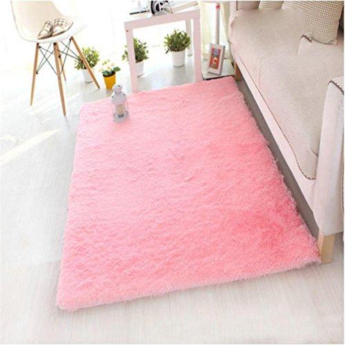 Quadrate Aus Schwarzem Schiefer (flauschig weich Teppiche Teppiche, vneirw Fashion Wohnzimmer Schlafzimmer Boden Shaggy Teppich Bereich rutschsicheren die Sauberlaufmatten, rose, 40 x 60cm)