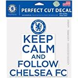 Int'l Soccer English Premiership Chelsea Perfect Cut Color Decal, Large/8 x 8, White