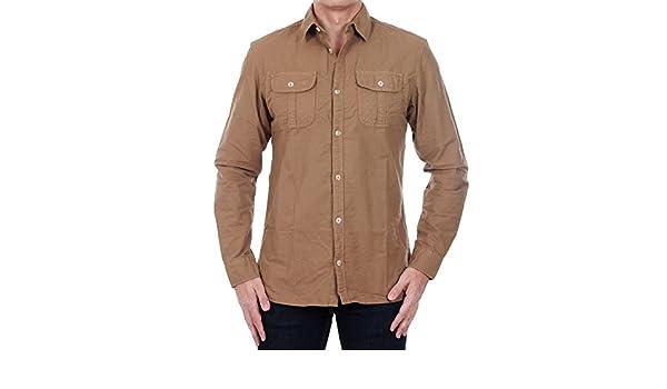 e8bbea85901a Jack Jones Chemise Homme Manches Longues Marron 12121049 JJVOHIO Shirt L S  Utility Ermine Slim  Amazon.fr  Vêtements et accessoires