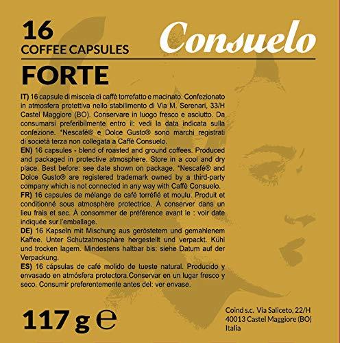 Consuelo - capsule compatibili Dolce Gusto* Forte, 32 capsule (16x2)