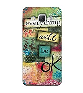 Fuson everything will be ok theme Designer Back Case Cover for Samsung Galaxy Grand Max G720-3DQ-1018