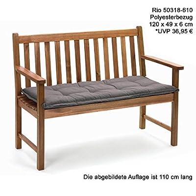 Bankauflagen 120 x 49 x 6 cm Rio 50318-610 in uni taupe Auflage ohne Bank von Möbelträume auf Gartenmöbel von Du und Dein Garten