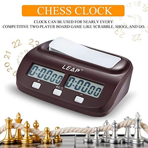 FairytaleMM Professionelle kompakte Digitale Schachuhr Countdown Down Timer elektronische Brettspiel Bonus Wettbewerb Master Turnier frei, schwarz