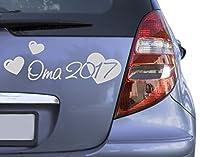 Autoaufkleber Oma 2017 B x H: 30cm x 11cm Farbe: gold von Klebefieber®
